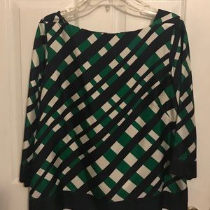 Ann Taylor multicolor silk blouse 14